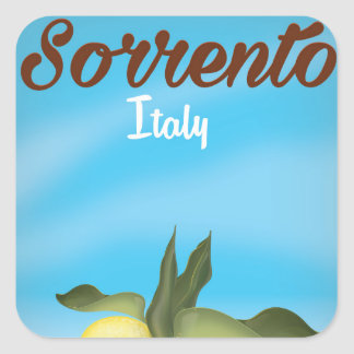 Sorrento Italian vacation travel poster Square Sticker