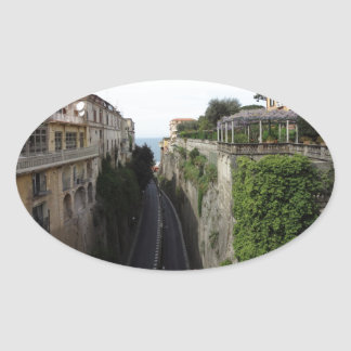 Sorrento, Italy Oval Sticker