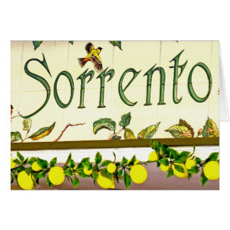Sorrento,  Italy,  Sign Card