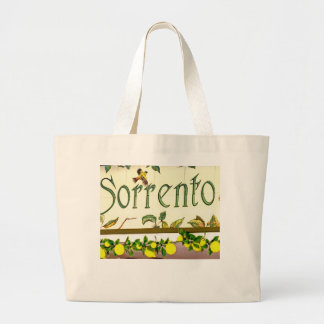 Sorrento,  Italy,  Sign Large Tote Bag