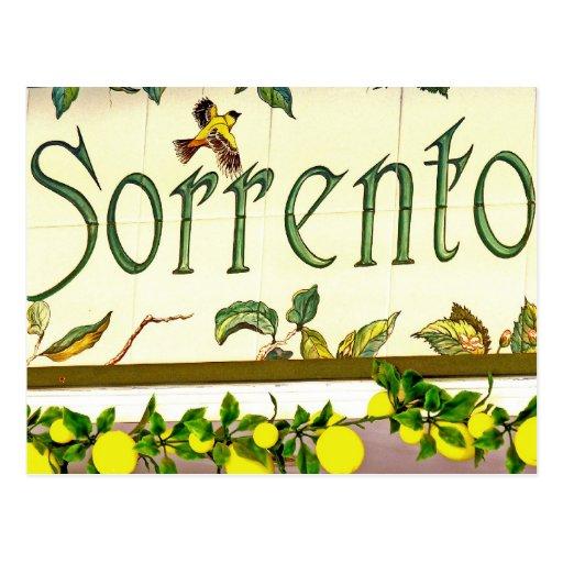 Sorrento,  Italy,  Sign Postcard