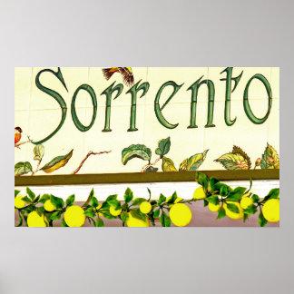Sorrento, Italy, Sign Print