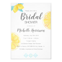 Sorrento. Lemon Watercolor Bridal Shower Invitation
