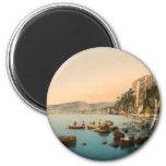 Sorrento por el mar, Nápoles, Campania, Italia Imanes
