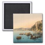 Sorrento por el mar, Nápoles, Campania, Italia Imán