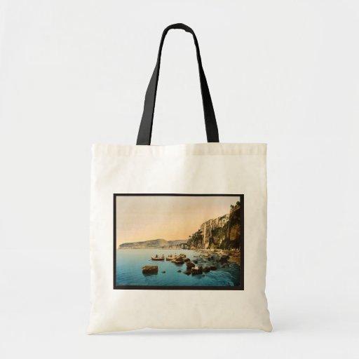 Sorrento por obra clásica Photoch del mar, Nápoles Bolsas