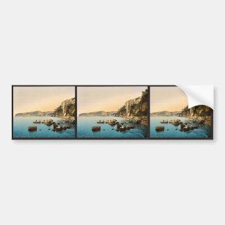 Sorrento por obra clásica Photoch del mar, Nápoles Pegatina De Parachoque
