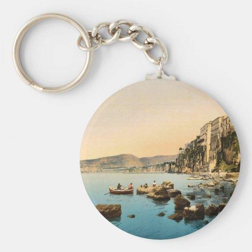 Sorrento por obra clásica Photoch del mar, Nápoles Llavero