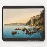Sorrento por obra clásica Photoch del mar, Nápoles Alfombrilla De Ratones