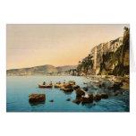 Sorrento por obra clásica Photoch del mar, Nápoles Tarjeton