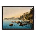 Sorrento por obra clásica Photoch del mar, Nápoles Tarjeta