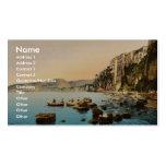Sorrento por obra clásica Photoch del mar, Nápoles Plantillas De Tarjetas Personales