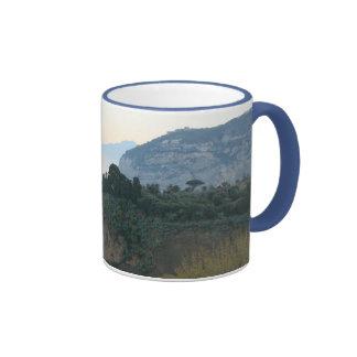 Sorrento sunrise ringer coffee mug