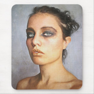 Sorrow classic oil portrait painting beauty woman mouse pad