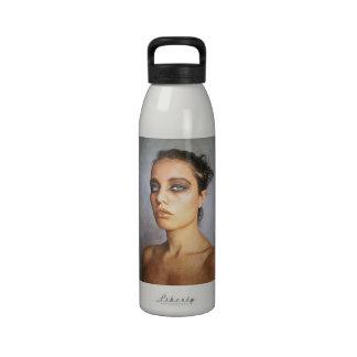 Sorrow classic oil portrait painting beauty woman reusable water bottles