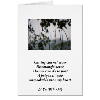 Sorrow of Parting/ Card Greeting Cards