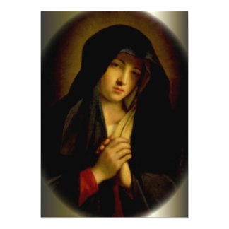 Sorrowful Virgin Mary with Folded Hands Card