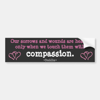 Sorrows healed by Compassion Bumper Sticker