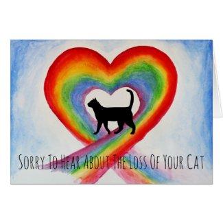 Sorry About Loss Of Cat Rainbow Bridge Sympathy