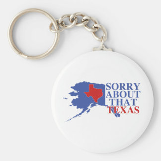 Sorry about that Texas - Alaska Pride Basic Round Button Keychain