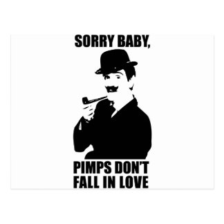 Sorry Baby Pimps Don't Fall In Love Postcard