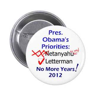 Sorry Bibi, Letterman Comes First Button