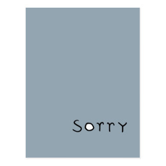 sorry black Postcard