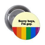 Sorry boys I'm gay 2 Button