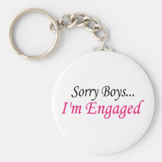 Sorry Boys Im Engaged Keychain