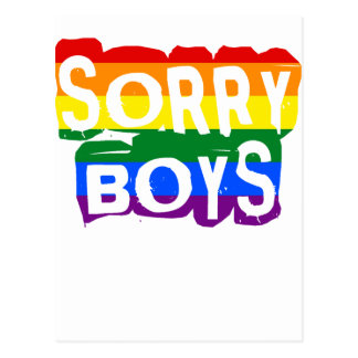 Sorry Boys LGBTQ Pride Postcard