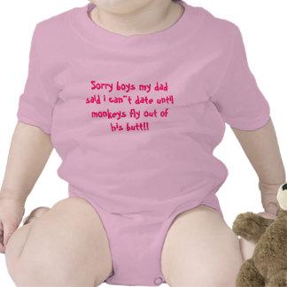 "Sorry boys my dad said i can""t date until monke... tshirts"
