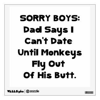 Sorry Boys Room Graphic