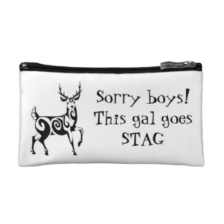 Sorry Boys! This Gal Goes Stag! Cosmetic Bag