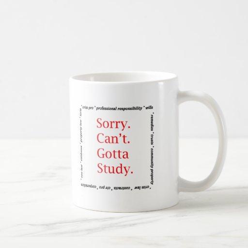 Sorry, Can't...Gotta study. Mugs