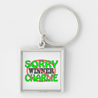Sorry Charlie - Not Winner Silver-Colored Square Keychain