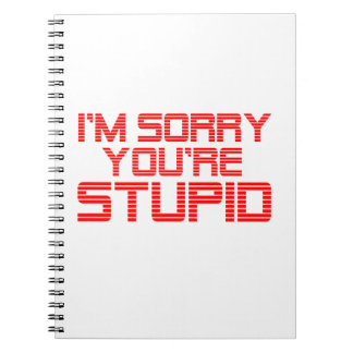 Sorry Cherry Spiral Notebooks