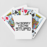 Sorry Coal Bicycle Poker Cards