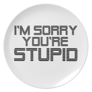Sorry Coal Party Plates