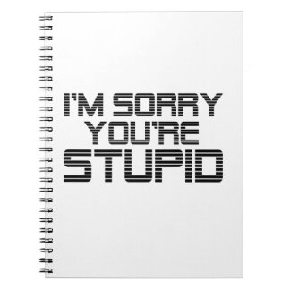 Sorry Coal Spiral Notebook