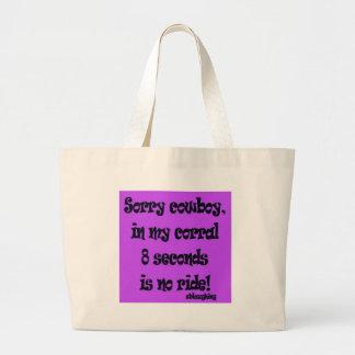 sorry cowboy jumbo tote bag