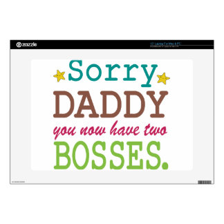 Sorry Daddy - Two Bosses Laptop Decal