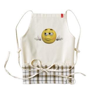 Sorry emoticon zazzle HEART apron