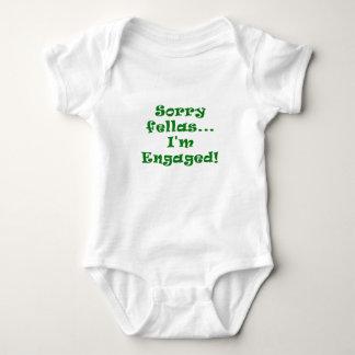 Sorry Fellas Im Engaged Baby Bodysuit
