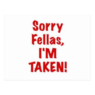 Sorry Fellas Im Taken Postcard