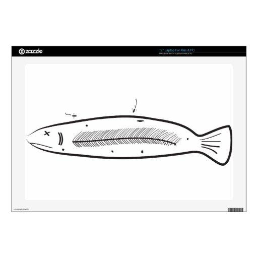 """Sorry Fish 17"""" Laptop Skin"""