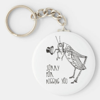 Sorry for bugging: Vintage grasshopper / cricket Basic Round Button Keychain