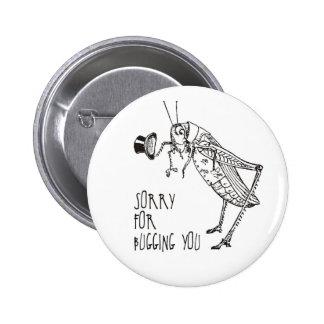 Sorry for bugging: Vintage grasshopper / cricket Pin