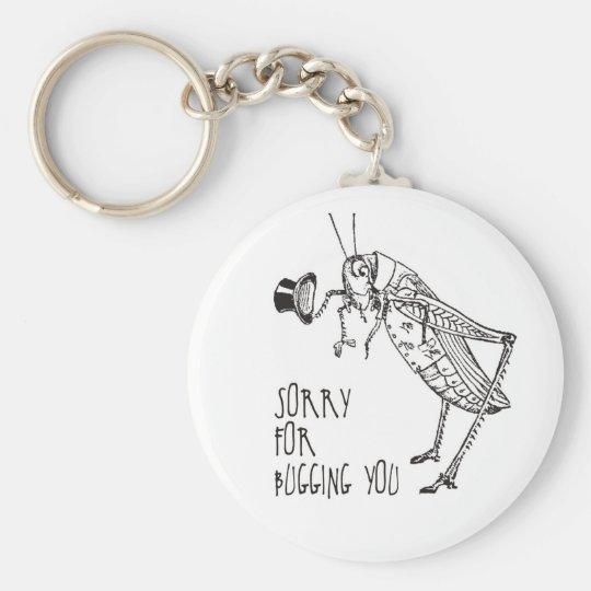Sorry for bugging: Vintage grasshopper / cricket Keychain