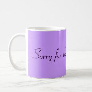 Sorry for thinking... classic white coffee mug