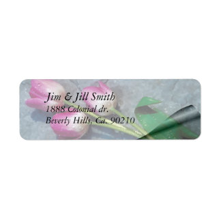 Sorry For Your Loss Pink Tulips Label